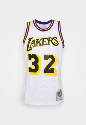 NBA LOS ANGELES LAKERS RELOAD SWINGMAN MAGIC JOHNSON - Club wear - white