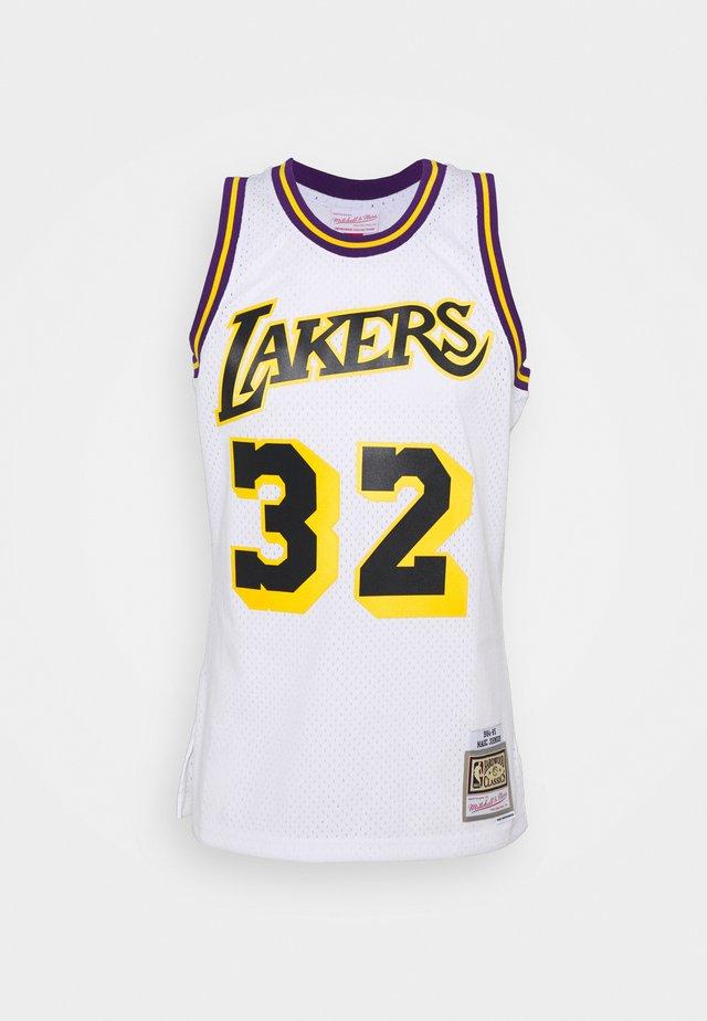 NBA LOS ANGELES LAKERS RELOAD SWINGMAN MAGIC JOHNSON - Article de supporter - white