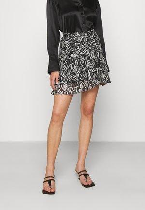 SKIRT - Mini skirt - black/white
