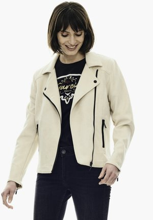 Faux leather jacket - off white