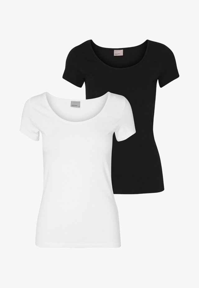 2 PACK - Basic T-shirt - white