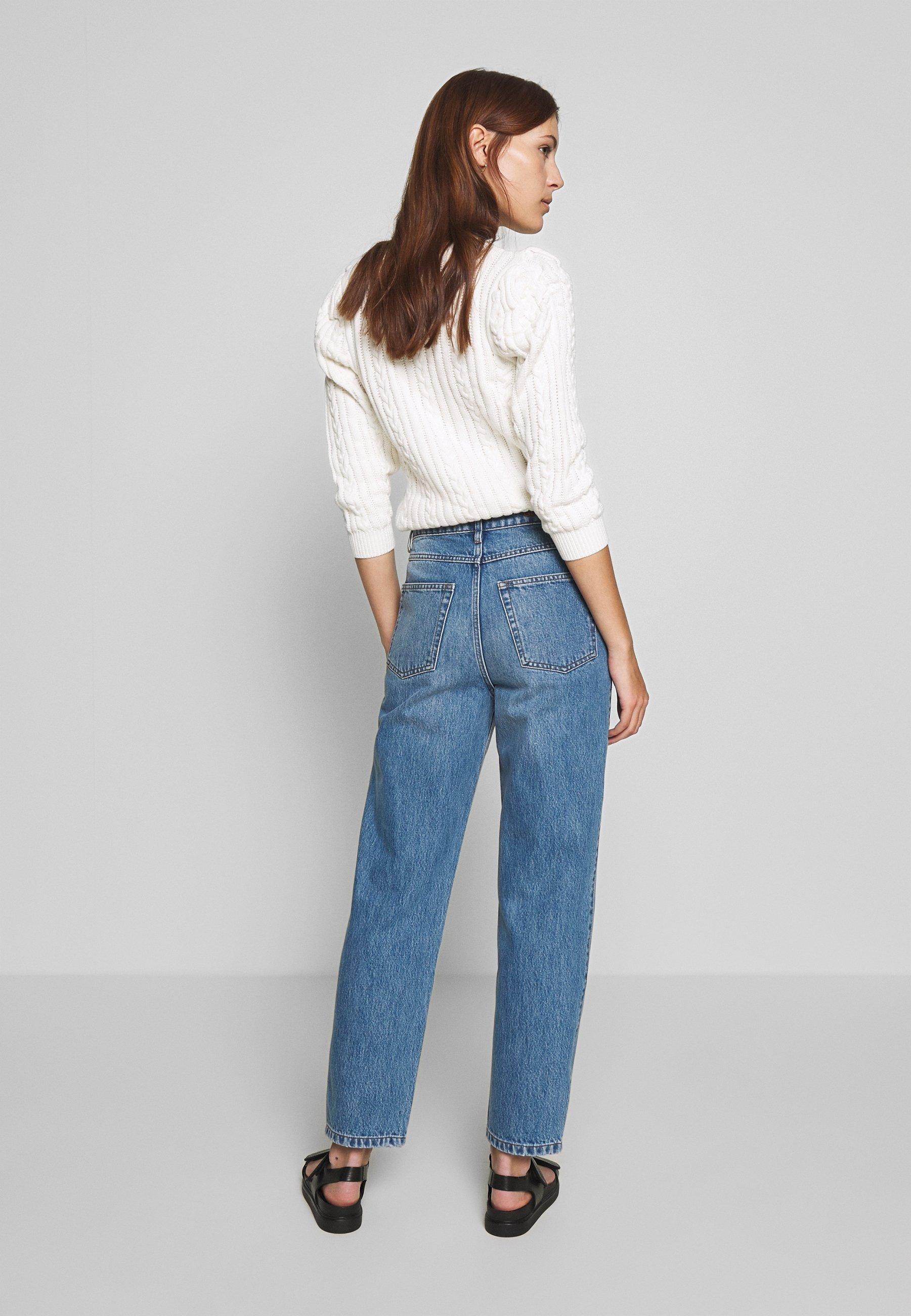 Gestuz DACY MOM JEANS - Jean droit - medium blue - Jeans Femme 8DE6l