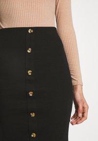 VILA PETITE - VICONIA PENCIL SKIRT - Pouzdrová sukně - black - 4