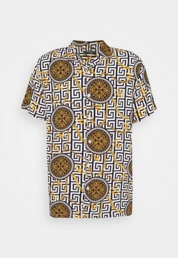 CALEB - Shirt - black, yellow