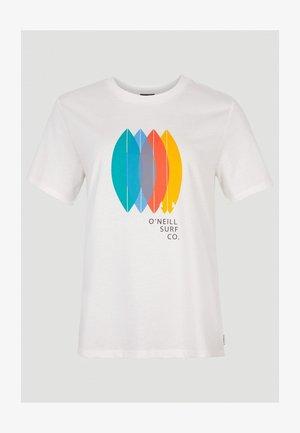 SURFBOARD - T-shirt print - powder white