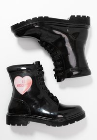 Love Moschino - RAIN LOVE - Lace-up ankle boots - black - 3
