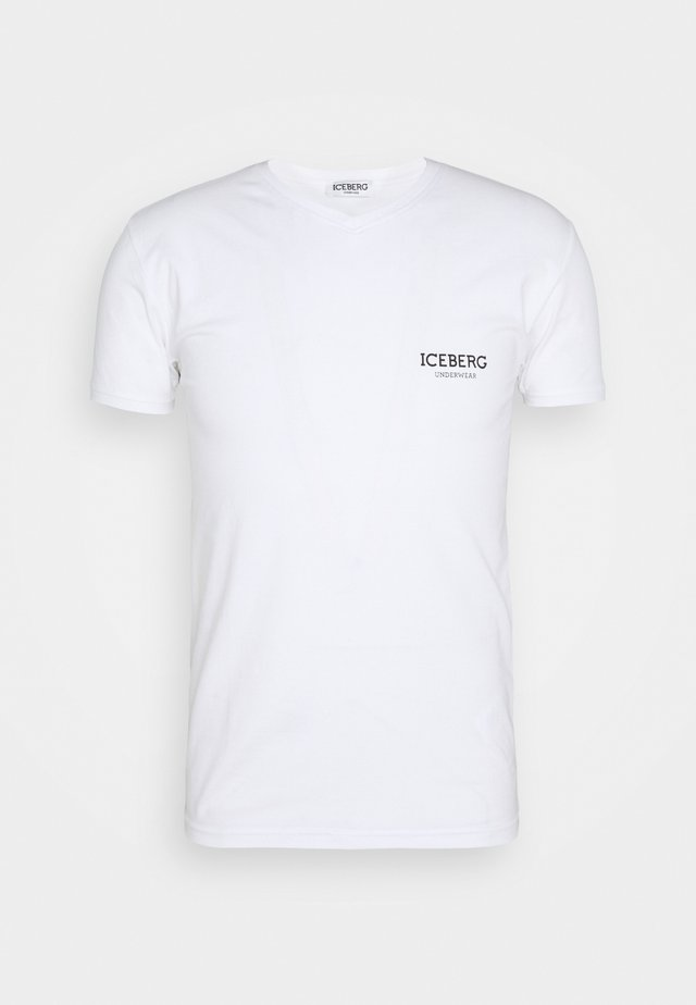 V NECK - Undershirt - white