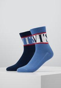 Levi's® - SHORT SOCK SPORT STRIPE 2 PACK - Socks - blue - 0