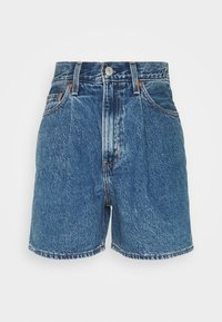 Levi's® - PLEATED - Denim shorts - blue denim - 4