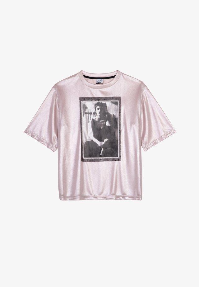 RETRO PORTRAIT  - Print T-shirt - pink
