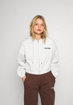 CORBY HOODED ZIP JACKET WOMEN - Zip-up sweatshirt - iced grey melange