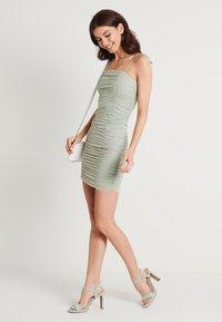 NA-KD - ZALANDO X NA-KD GATHERED BANDEAU DRESS - Day dress - dusty green - 1