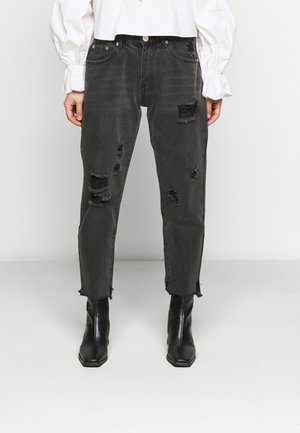 LADIES  WASHED - Jeans Slim Fit - black