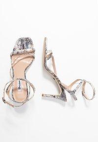 Dune London - MIGHTEYS - Sandály na vysokém podpatku - silver - 3