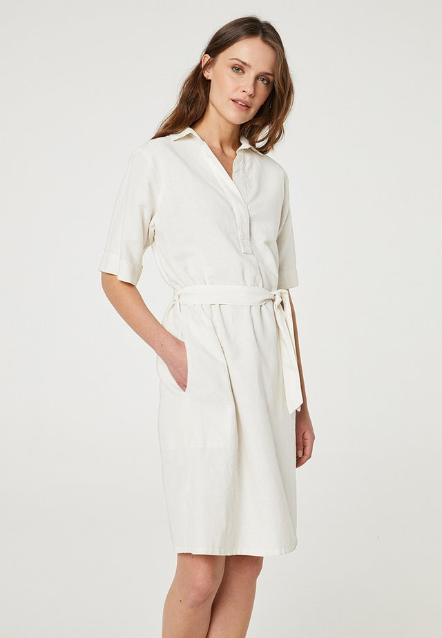 Robe chemise - blanco