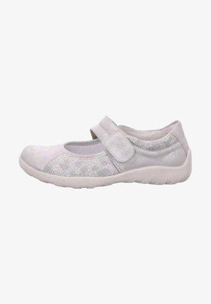 Ankle strap ballet pumps - grau