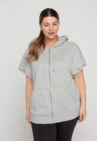 Active by Zizzi - Zip-up sweatshirt - light grey melange - 1