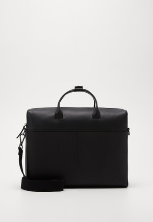 UNISEX LEATHER - Portfölj - black