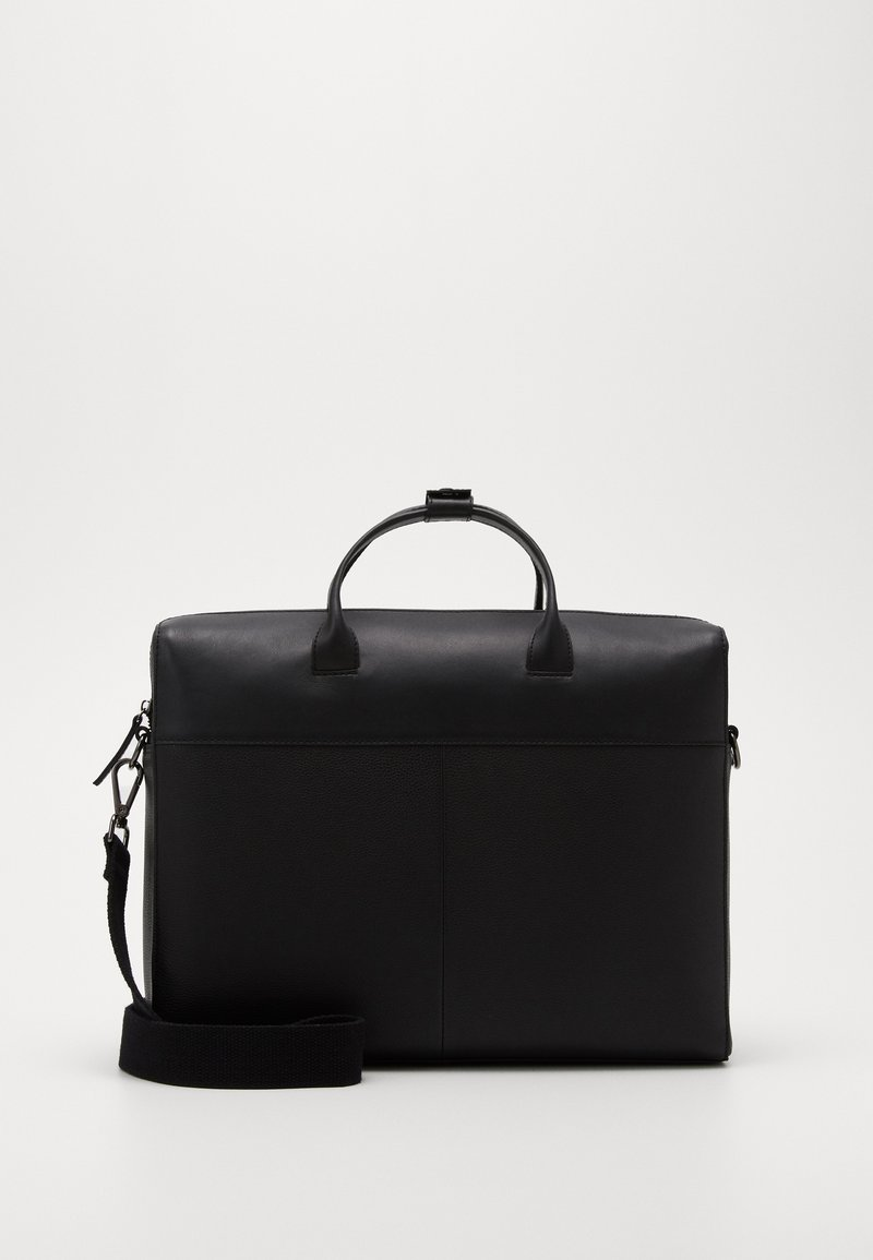 Zign - UNISEX LEATHER - Briefcase - black