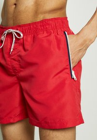 Jack & Jones - JJIARUBA SWIMSHORTS ZIP - Plavky - mars red - 3