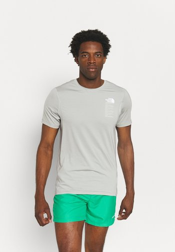 GLACIER TEE - T-shirt med print - mottled light grey