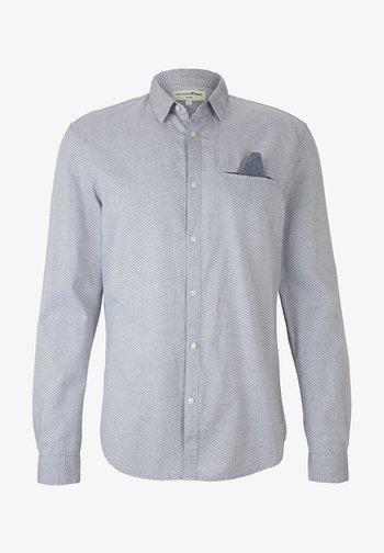Shirt - mottled blue