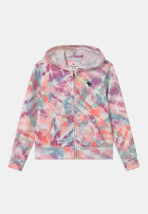 Zip-up hoodie - multi-coloured