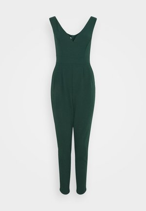HEIDI LOW V NECK - Jumpsuit - forest green