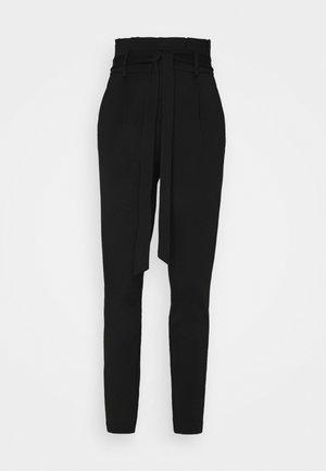 ONLPOPTRASH LIFE EASY  PAPERBAG - Trousers - black
