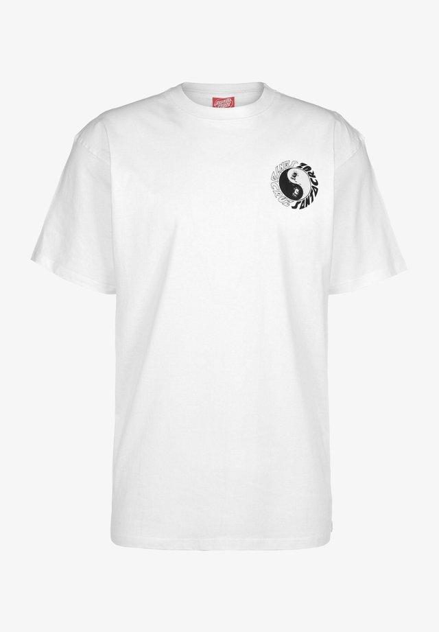 YING YANG - T-shirt con stampa - white