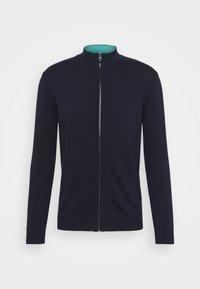 MODERN BASIC ZIP JACKET - Cardigan - dark blue