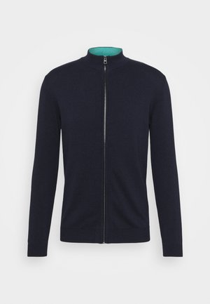 MODERN BASIC ZIP JACKET - Cardigan - dark blue
