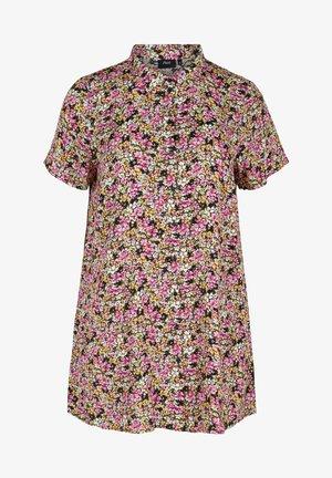 Button-down blouse - primula flower mix