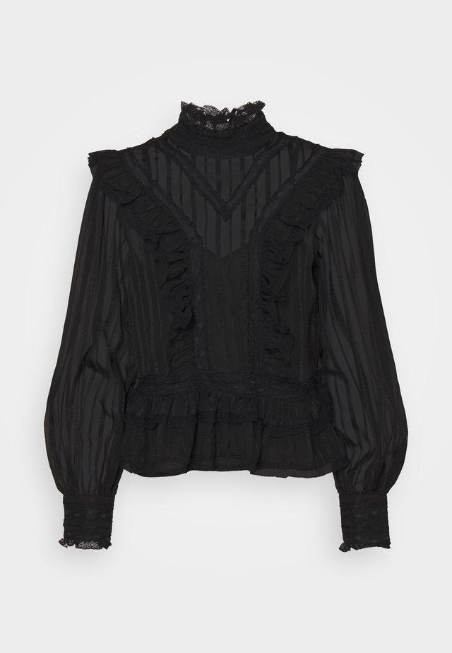VICTORIANA CLARISSA - T-shirt à manches longues - black
