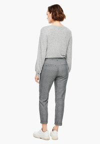 Q/S designed by - Trousers - grey check - 2