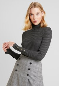 Freequent - Sweter - dark grey melange - 0