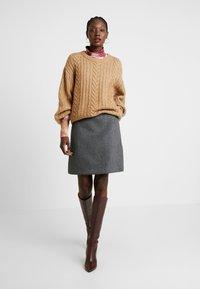 Esprit Collection - SKIRT - Minisukně - dark grey - 1