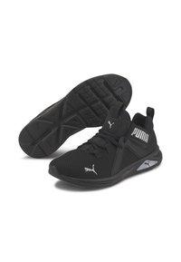 Puma - ENZO  - Chaussures de running neutres - black-metallic silver - 3