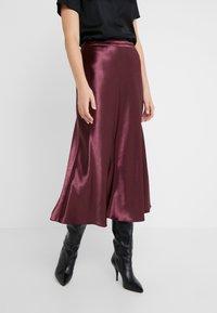 HUGO - RACELA - A-line skirt - medium red - 0