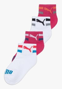 Puma - KIDS CLYDE QUARTERS 4 PACK - Ponožky - pink/white - 0