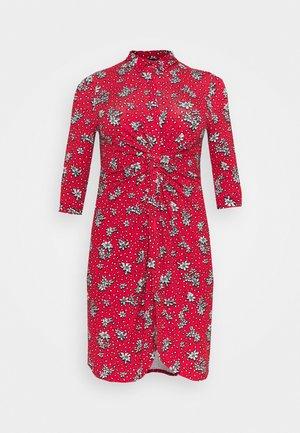 DRESS - Skjortekjole - red