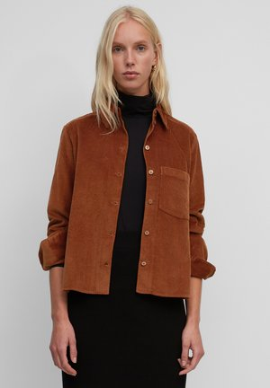 Button-down blouse - rustic orange