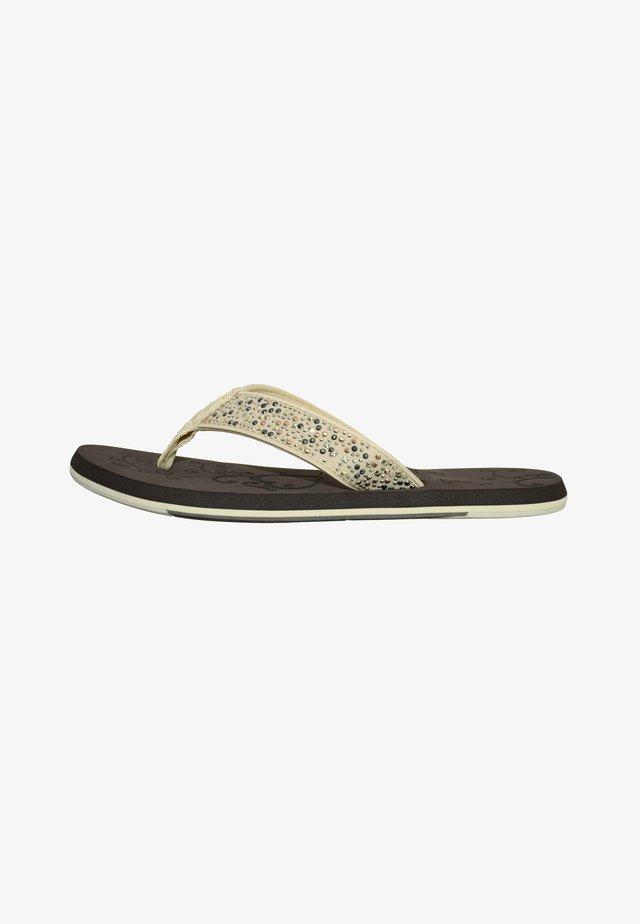 MIDNIGHT - T-bar sandals - braun/beige