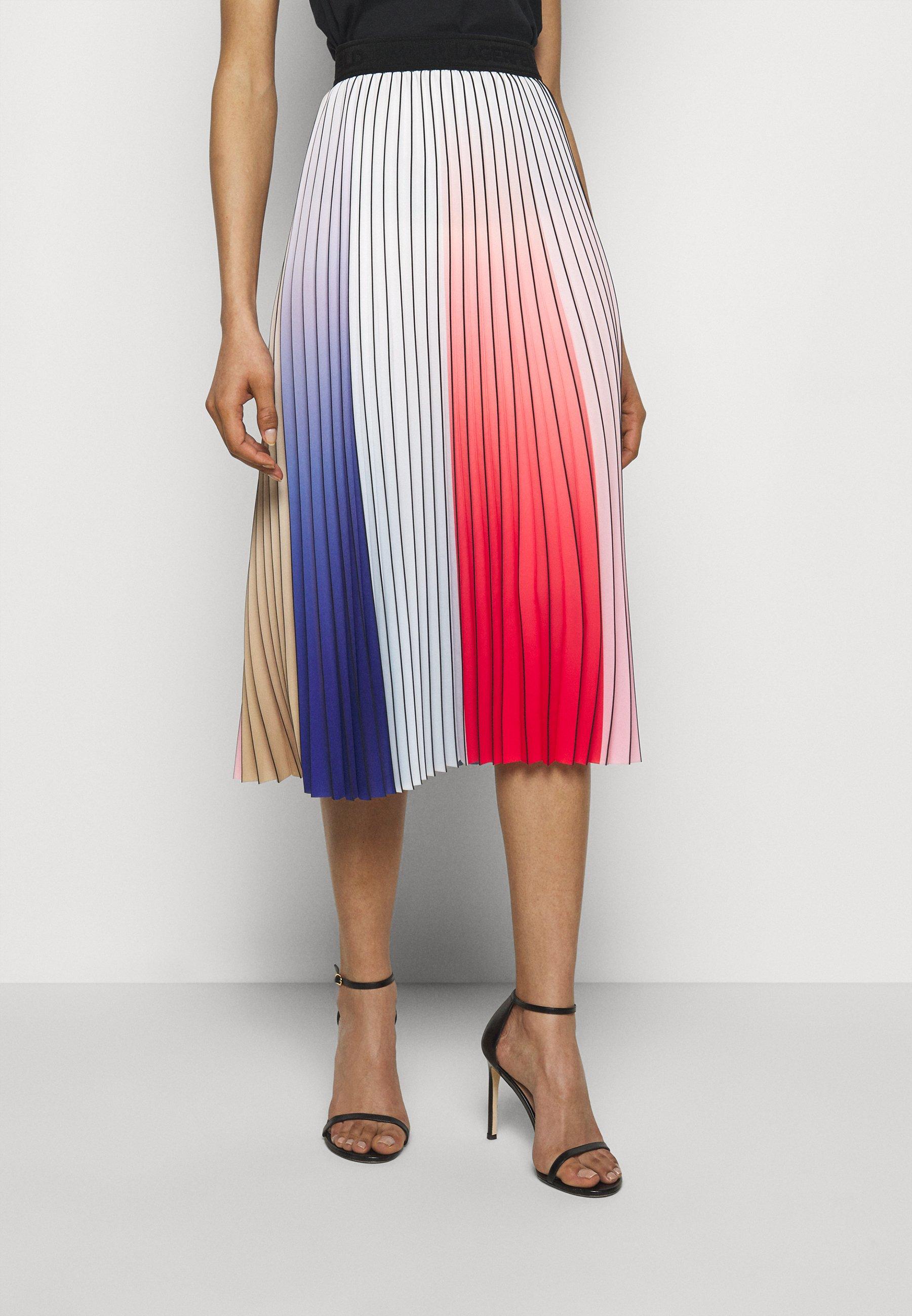 Femme PLEATED RAINBOW SKIRT - Jupe plissée