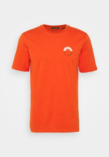 LOGO CREWNECK TEE - T-shirt imprimé - chili pepper