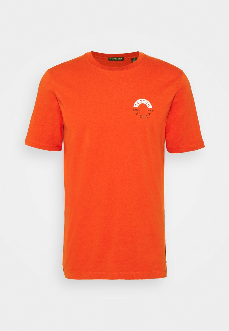 Scotch & Soda - LOGO CREWNECK TEE - T-shirt med print - chili pepper