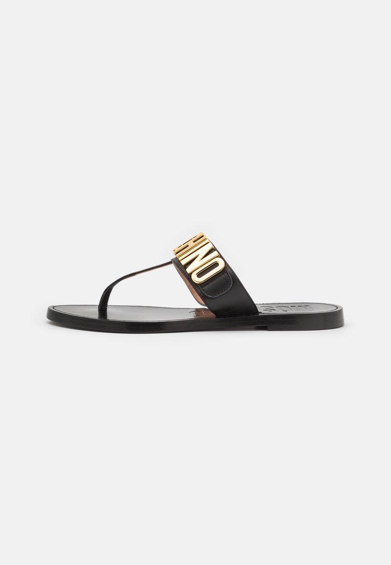 MOSCHINO - Sandály s odděleným palcem - nero