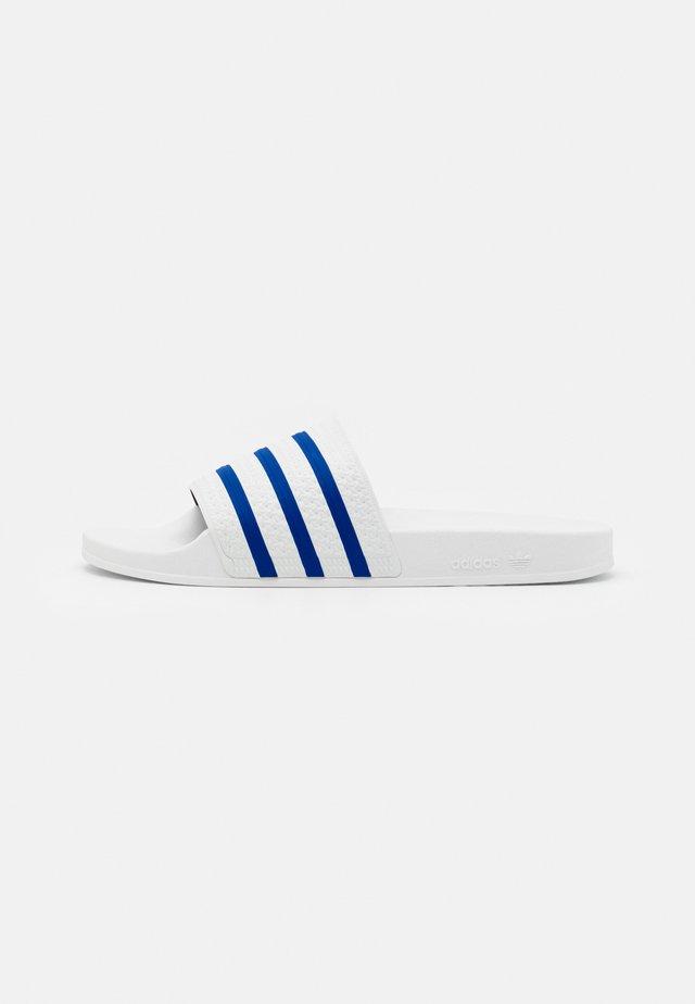 ADILETTE UNISEX - Muiltjes - footwear white/glory blue
