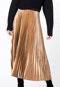 HALLHUBER - A-line skirt - camel - 3
