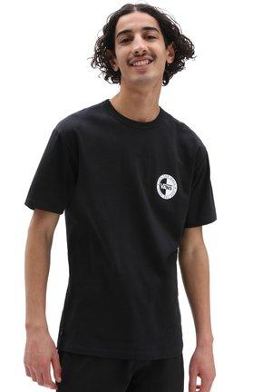 MN OFF THE WALL SLANTED CHECKER SS - Print T-shirt - black